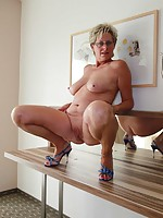wet milfs and huge dildos